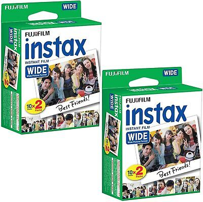 40 WIDE of Fujifilm Instax Wide Instant Color Film prints Fuji Wide  300 Cameras
