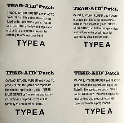 Tear Aid Tipo A 15.2cmx15.2cm Kitesurf Cometa Vegiga Parche O Reparar Más...