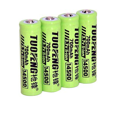 rechargeable aa batteries , 14500 AA Li-ion Batteries 3.7V 700mAh Rechargeable