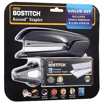 Bostitch Ascend Stapler Integrated Remover Staple Storage Remover Value Pack New