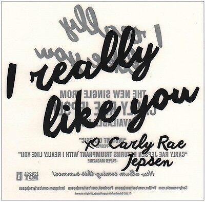 Rock & Pop New CARLY RAE JEPSEN E·MO·TION 2015 Ltd Ed Rare Sticker