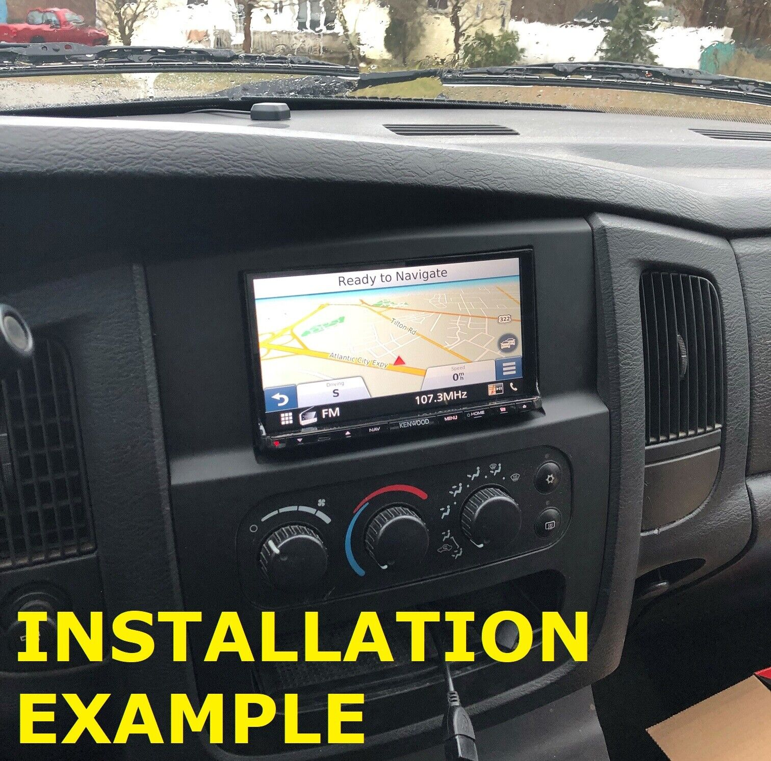 Hecasa Double Din Radio Install Dash Kit Fits For 2002 2003 2004 2005 Dodge Ram 1500 2500 3500 W Wire Harness Antenna Adapter In Dash Mounting Kits Car Electronics