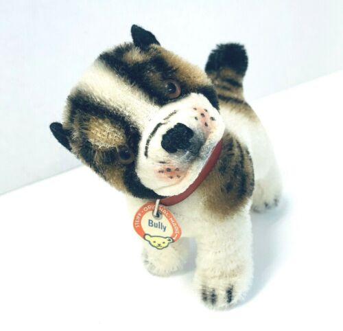 """Vintage Steiff Bulldog BULLY Puppy Dog 4"""" Mohair Small Bull Stuffed Toy"""