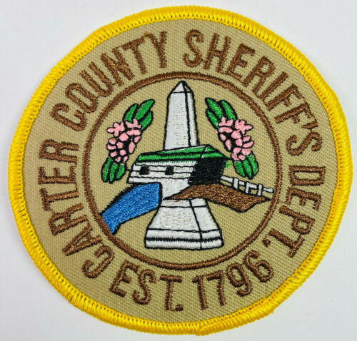Carter County Sheriff Tennessee TN Patch A6