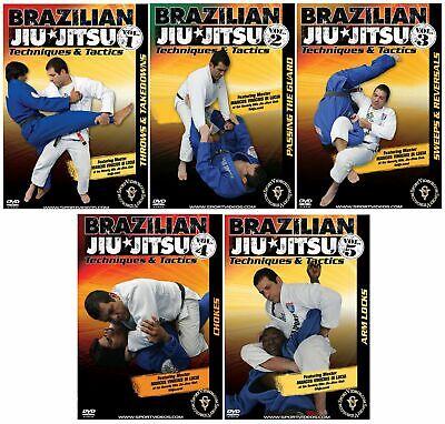 Brazilian Jiu-Jitsu Techniques and Tactics 5 DVD Set for $25~Free Shipping!