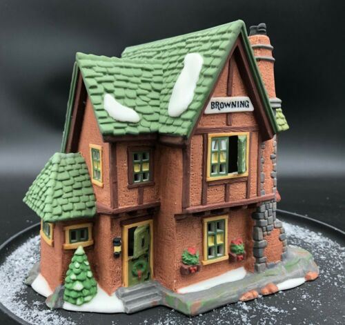 """Department 56 Heritage Collection Dickens Village Series """"Browning Cottage"""" 1994"""