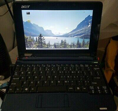 """ACER ASPIRE ONE ZG5 Intel Atom N270 1.60GHz 1GB RAM 160GB HDD 8.9"""" Linux Mint"""