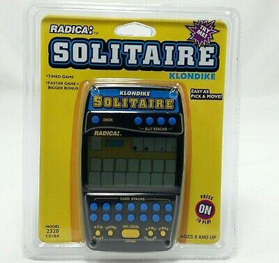 Radica Klondike 2320 Solitaire Electronic Handheld Card Games New Vintage 90s Klondike Solitaire Games