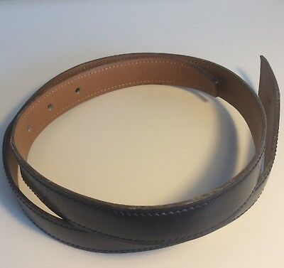 Hermes Belt Strap Navy Blue Box Leather Size M Good Condition (Hermes Gürtel Box)