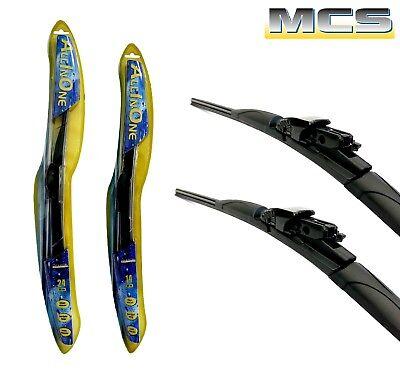 """MCS - Kit 2 Spazzole Tergicristallo """"ALL IN ONE"""" per FIAT 500 NUOVA dal 2007"""