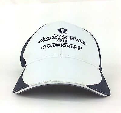 Charles Schwab Cup Championship Baseball Cap Hat Adj Adult Size Polyester