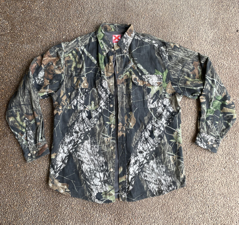 X Scent Camo Button Down Hunting Shirt Mossy Oaks Break Up