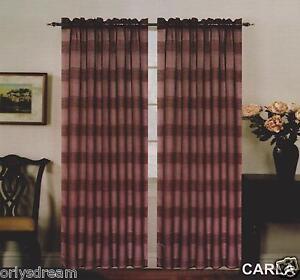 New-Premier-Collection-Elegant-2-Panels-Curtain-Drape-Set-Carla-BROWN