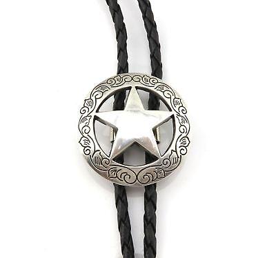 Texas Sheriff Star Western Cowboy Rodeo Bolo Tie