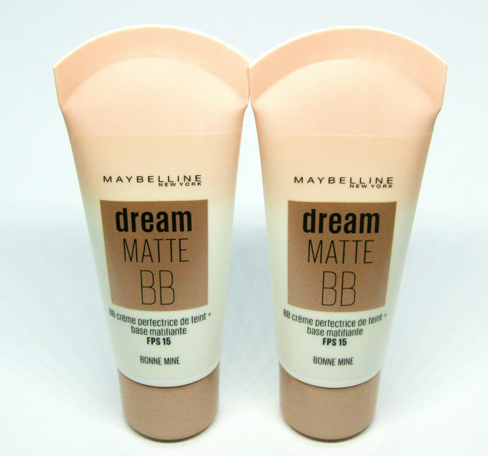 2 x MAYBELLINE dream MATTE PURE BB CREAM 8-EN-1  BONNE MINE / MEDIUM