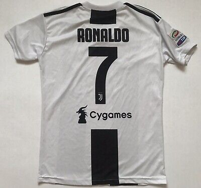 Ronaldo Juventus Jersey 2018 2019 Home Small Shirt Soccer Football Adidas image