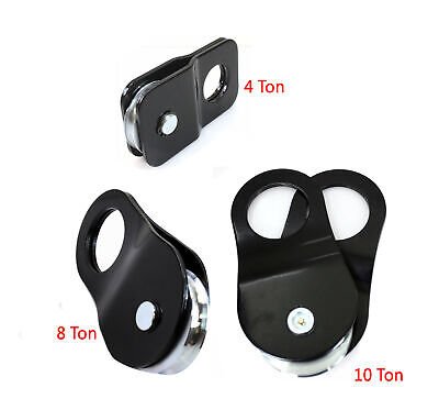 4 8 10 Ton Recovery Pulley Winch Snatch Block 8000 To 20000 Lb. Hd