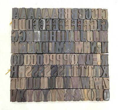 Vintage Letterpress Woodwooden Printing Type Block Typography 108 Pc 34mmtp-21
