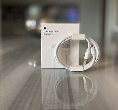 Genuine Apple Charger For Apple iPhone USB Lightening Cable OEM 2m/6ft 6 7 8 X