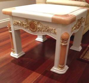 Side Table Classic Elegant Style Stone Top Turramurra Ku-ring-gai Area Preview
