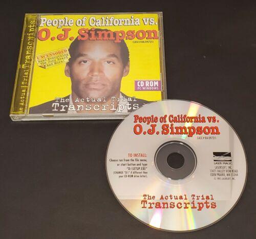 People of California vs. O.J. Simpson CD-ROM PC Trial Transcripts 1995