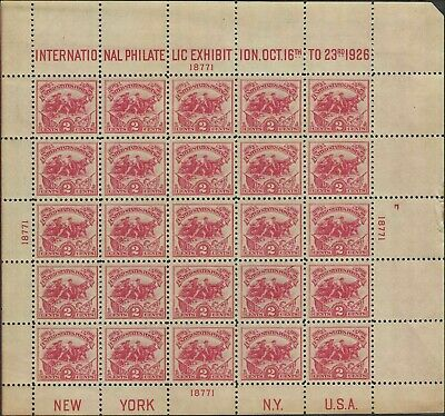 US Stamps  #630 MNH OG 1926 White plains souvenir sheet VF/XF