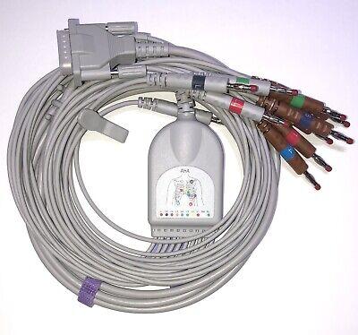 Mortara Burdick 15 Pin 10 Leads Banana Ekg Cable Compatible - Same Day Shipping