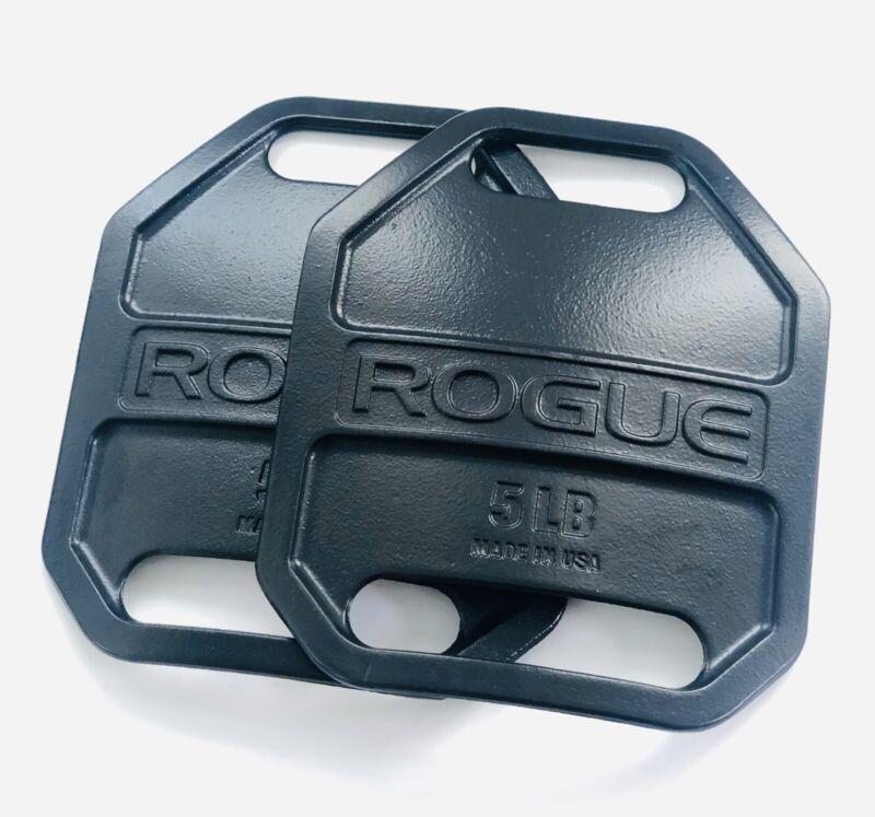 ROGUE Fitness Vest Weight Plates - Black Pair - 5 lb Plates (10 Pounds Total)