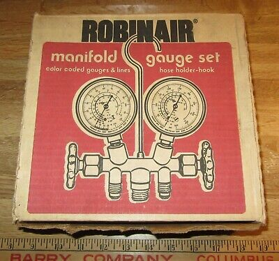 Robinair Brass Complete Manifold Gauge Set 40153