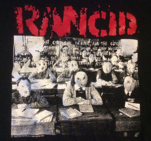 Rancid Punk Rock Band Graphic T Shirt Black Classroom 2003 AAA Size XL