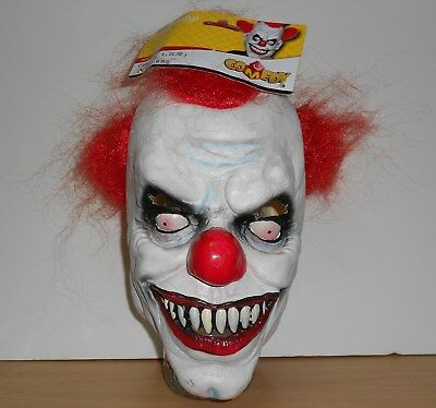 Scary Clow Mask masque adult red hair Smiffys Latex Mask comedy