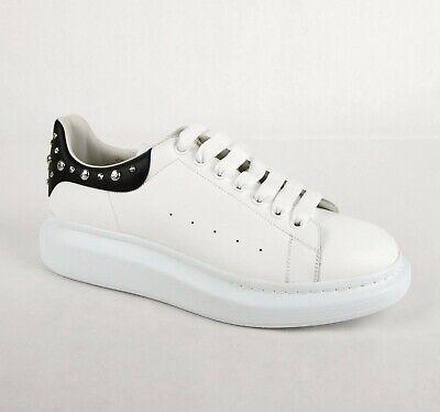 Alexander McQueen Men's White Smooth Leather Platform Sneaker 45 485246 9061