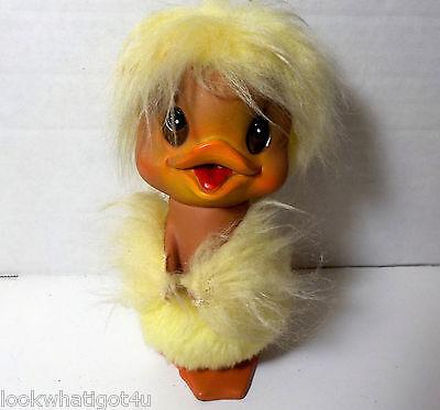 "Vintage KAMAR INK 1969 Vinyl fur Easter Duck / Chick 6"""
