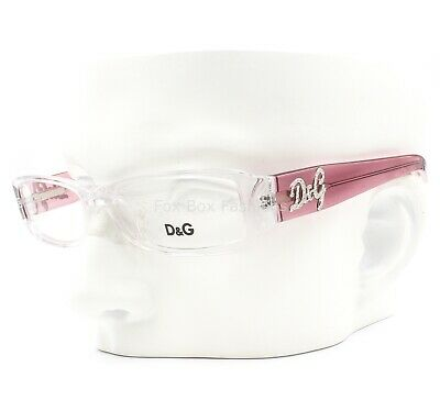 Dolce Gabbana D&G 1138B 746 Eyeglasses Glasses Crystal Clear & Pink 51mm (D&g Eye Glasses)