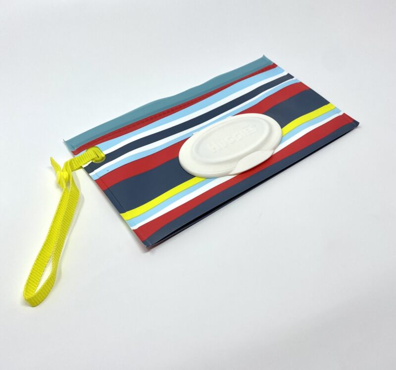 Huggies Clutch N Clean Baby Wet Wipe Portable Travel Pouch - Stripes