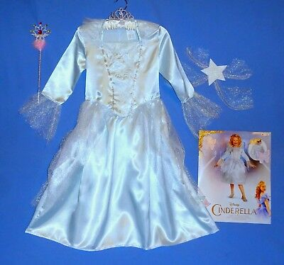 Disney Cinderella Fairy Godmother Costume dress girls 7-8,10-12;wings wand tiara](Cinderella Fairy Godmother Wand)