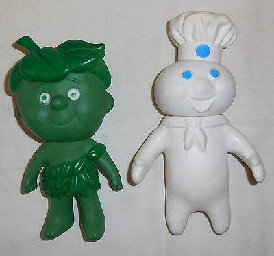 Vintage 1970's JOLLY GREEN GIANT SPROUT & PILLSBURY DOUGHBOY Doll/Figure Lot