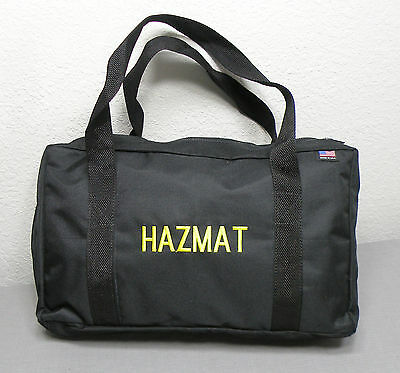 Black Hazmat Equipment Duffel Tote Carry Dopple Travel Case Gear Fire Rescue Bag