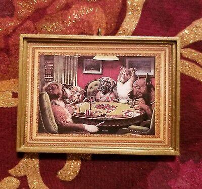Dogs Playing Cards Poker Christmas Custum Ornament/Magnet/Dollhouse - Christmas Custumes