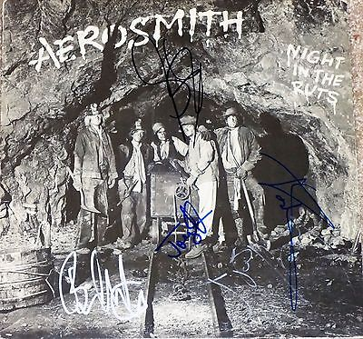 All Aerosmith Albums - AEROSMITH HAND SIGNED AUTOGRAPHED NIGHT IN THE RUTS ALBUM BY ALL 5! W/PROOF+COA!