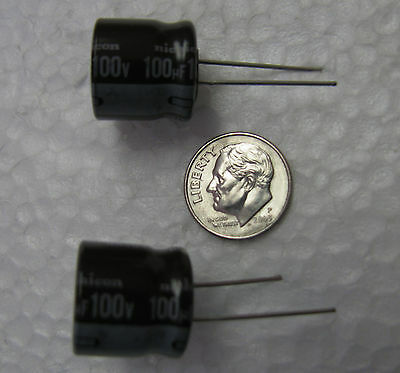 100uf 100v Nichicon Pf Series Long Life 105c Electrolytic Capacitors 10 Pcs
