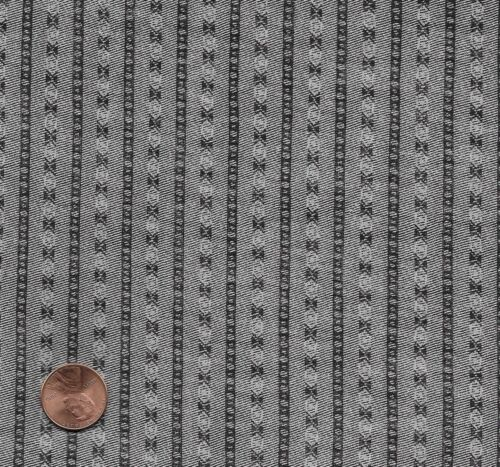 Antique Gray Mourning Print Fabric