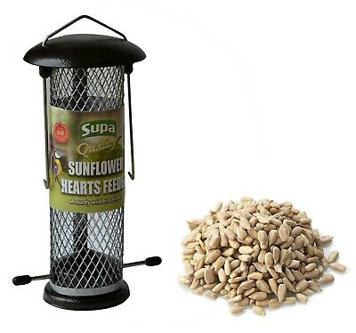 Wild Bird Sunflower Hearts FEEDER & 1.5kg SUNFLOWER HEARTS. NO MESS FOOD