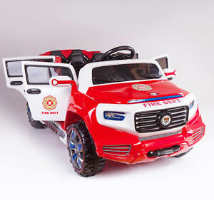 Police 2 Seater 12v Kids Ride on Car, 2 Seater Fire Truck,4 door