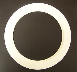 6 inch over size white light trim ring recessed can. Black Bedroom Furniture Sets. Home Design Ideas