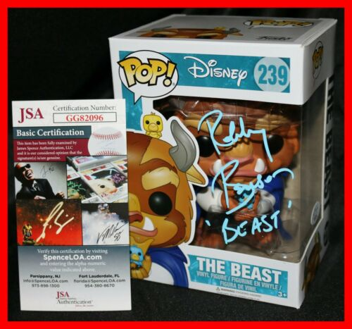 🔥 Robby Benson Signed Beast Disney Beauty And The Beast Funko POP JSA PSA 🔥