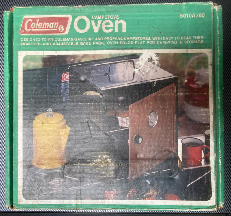 Coleman Camp Stove Oven Model 5010A700 with original box. Used. Works Great.
