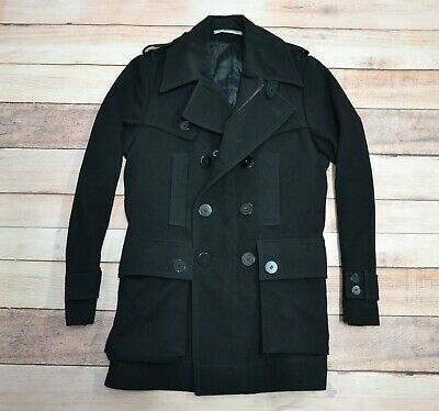TIGER OF SWEDEN TUCKER Mens Jacket Outdoor Business Wool Trench Size 46 Small