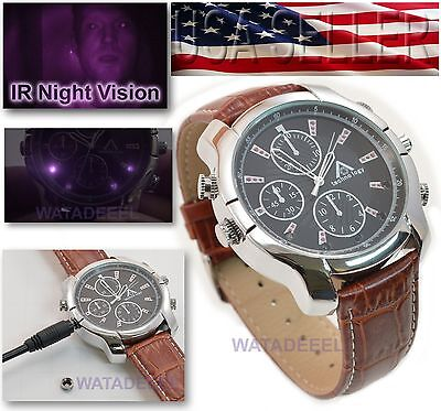 1080p Spy Watch Delta Tech Infrared Night Vision Camera DVR Video Audio IR LED