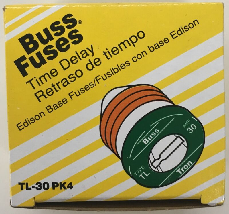 Bussman TL-30PK4 Box of 4 30 amp Edison Base Plug Fuse
